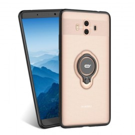 Coque Huawei Mate 10 Hybride Support Anneau Champagne