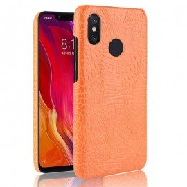 Coque Xiaomi MI 8 Croco Cuir Orange