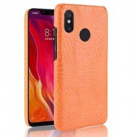 Coque Xiaomi MI 8 Croco Cuir Orange