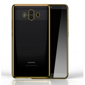 Coque Huawei Mate 10 Silicone Chromée Or