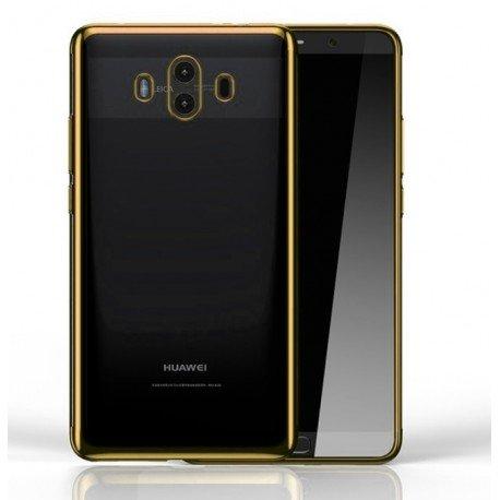 Coque Huawei Mate 10 Silicone Chromée Or