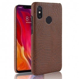 Coque Xiaomi MI 8 Croco Cuir Marron