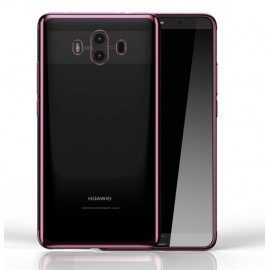 Coque Huawei Mate 10 Silicone Chromée Rose