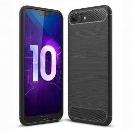 Coque Silicone Honor 10 3D Carbone Noir