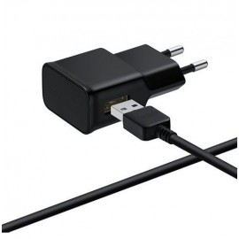 Chargeur 220v avec Cable USB 2000mAh Noir