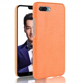 Coque Honor 10 Cuir Orange