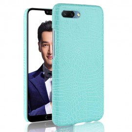 Coque Honor 10 Cuir Turquoise
