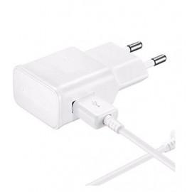 Chargeur 220v avec Cable USB 2000mAh Blanc