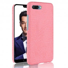 Coque Honor 10 Cuir Rose