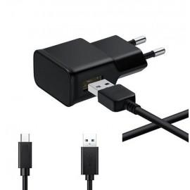 Chargeur 220v avec Cable Type C 2000mAh Noir