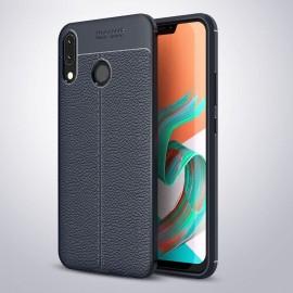 Coque Silicone Asus Zenfone 5 Cuir 3D Bleu