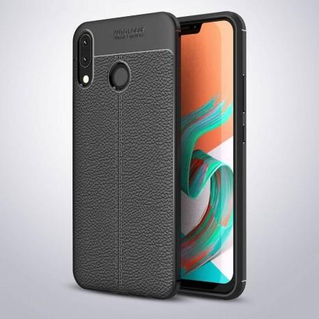 Coque Silicone Asus Zenfone 5 Cuir 3D Noir