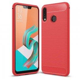 Coque Silicone Asus Zenfone 5 Brossé Rouge