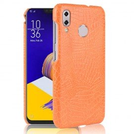 Coque Asus Zenfone 5 Croco Cuir Orange