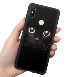 Coque Silicone Xiaomi MI 8 Chat Noir