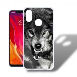 Coque Silicone Xiaomi MI 8 Loup