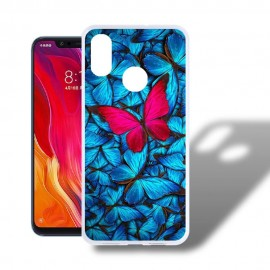 Coque Silicone Xiaomi MI 8 Papillon