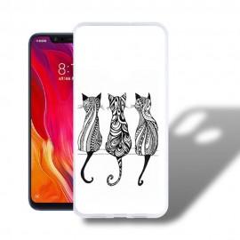 Coque Silicone Xiaomi MI 8 Chatons