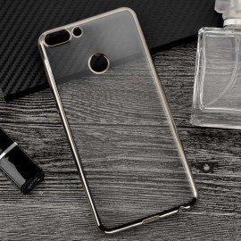 Coque Huawei P Smart Silicone Chromée Gris