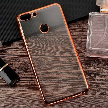 Coque Huawei P Smart Silicone Chromée Or Rose