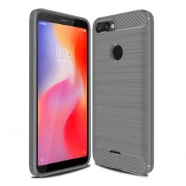 Coque Silicone Xiaomi Redmi 6 Brossé Grise