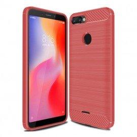 Coque Silicone Xiaomi Redmi 6 Brossé Rouge