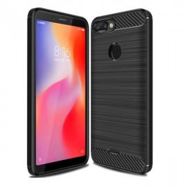 Coque Silicone Xiaomi Redmi 6 Brossé Noir