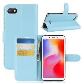 Etuis Portefeuille Xiaomi Redmi 6 Simili Cuir Bleu
