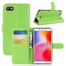 Etuis Portefeuille Xiaomi Redmi 6 Simili Cuir Vert