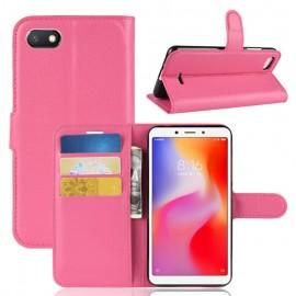Etuis Portefeuille Xiaomi Redmi 6 Simili Cuir Rose