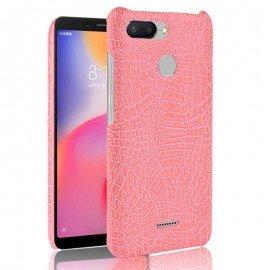 Coque Xiaomi Redmi 6 Croco Cuir Rose