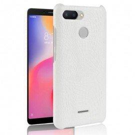 Coque Xiaomi Redmi 6 Croco Cuir Blanche