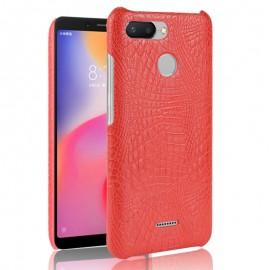 Coque Xiaomi Redmi 6 Croco Cuir Rouge