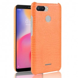 Coque Xiaomi Redmi 6 Croco Cuir Orange