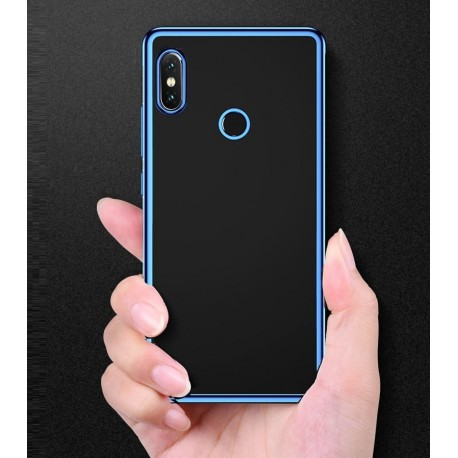 Coque Xiaomi Redmi S2 Tpu Bords Bleu