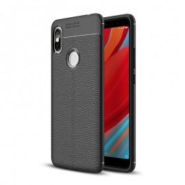 Coque Silicone Xiaomi Redmi S2 Cuir 3D Noir