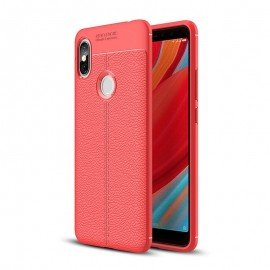 Coque Silicone Xiaomi Redmi S2 Cuir 3D Rouge