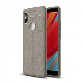 Coque Silicone Xiaomi Redmi S2 Cuir 3D Grise
