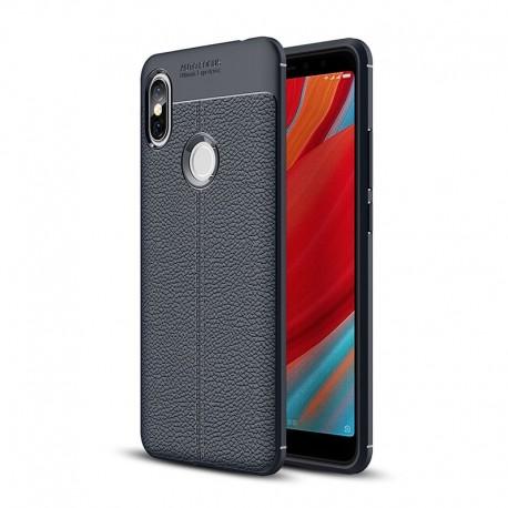 Coque Silicone Xiaomi Redmi S2 Cuir 3D Bleu