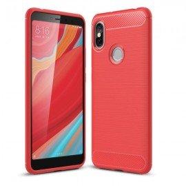 Coque Silicone Xiaomi Redmi S2 Brossé Rouge