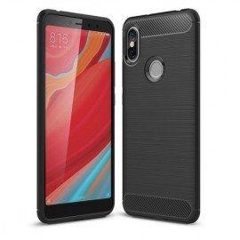 Coque Silicone Xiaomi Redmi S2 Brossé Noir