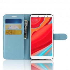 Etuis Portefeuille Xiaomi Redmi S2 Simili Cuir Bleu