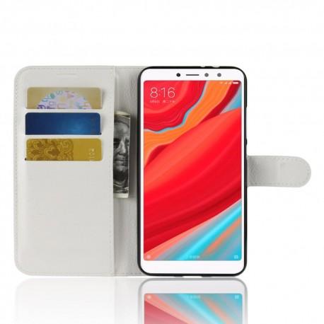 Etuis Portefeuille Xiaomi Redmi S2 Simili Cuir Blanc