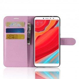 Etuis Portefeuille Xiaomi Redmi S2 Simili Cuir Rose