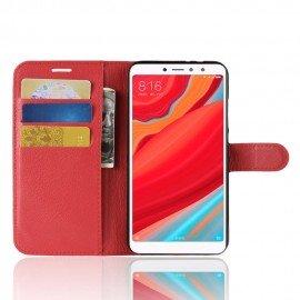 Etuis Portefeuille Xiaomi Redmi S2 Simili Cuir Rouge