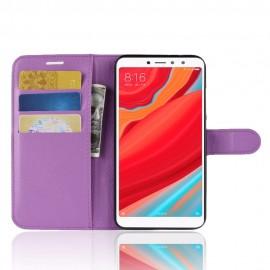 Etuis Portefeuille Xiaomi Redmi S2 Simili Cuir Lila
