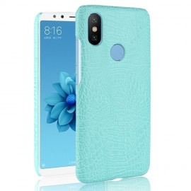 Coque Xiaomi Redmi S2 Croco Cuir Turquoise