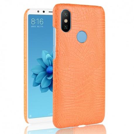 Coque Xiaomi Redmi S2 Croco Cuir Orange