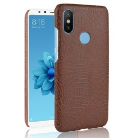 Coque Xiaomi Redmi S2 Croco Cuir Marron
