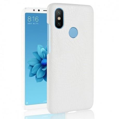 Coque Xiaomi Redmi S2 Croco Cuir Blanche